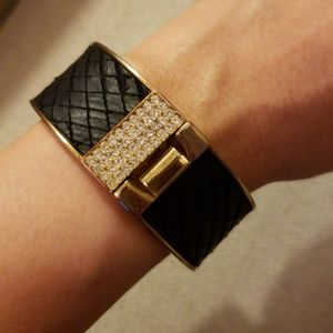 Ann Taylor black & gold bangle cuff